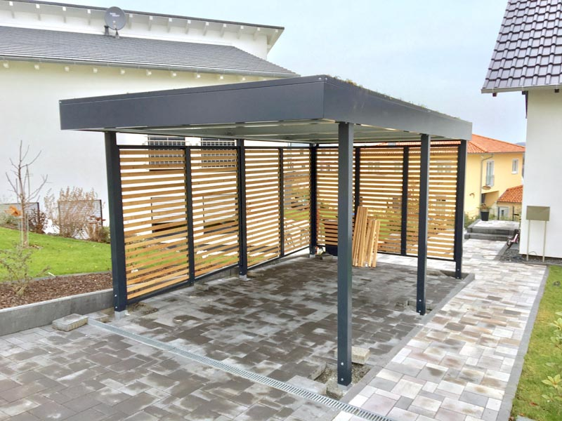 home carports carports und berdachungen aus holz und metall. Black Bedroom Furniture Sets. Home Design Ideas